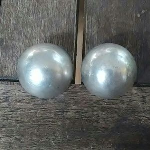 Jewelry - Vtg Mexico Sterling Silver CLIP-ON Earrings